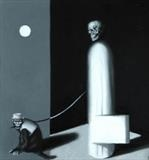 Death Takes A Holiday by Steve Lawson, Painting, Oil on Wood